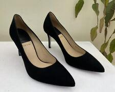 BNWB Paul Smith Designer Womens Black Suede Stiletto High Heel Shoes UK6 EU39