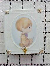 Precious Moments Boys Confirmation Mini Bible Holder Porcelain #646350 NEW