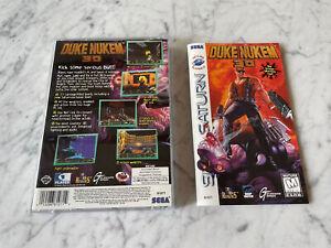 Duke Nukem 3D (Sega Saturn, 1997) Box Case and Manual ONLY No Game