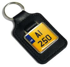 A1 250 Reg Number Plate Leather Keyring Fob for Kawasaki A1250 Samurai Key