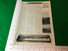 Korg CX3 keyboard organ portable vintage article / feature / review