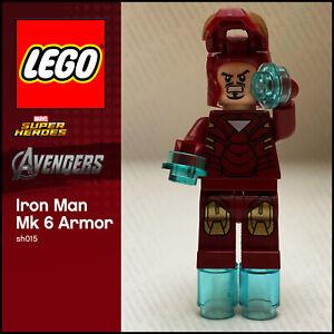 GENUINE LEGO Marvel Minifigure Iron Man Mark 6 Armor sh015 Avengers set 6867