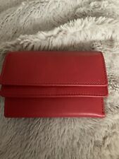 Real Leather Red Purse New