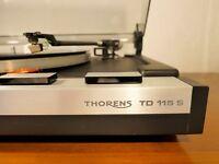 Thorens TD 115 S MK II platine vinyle vintage Stanton 500 Turntable originale