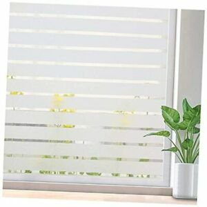 Privacy Window Film Static Cling Non-Adhesive Glass 17.5 x 78.7Inches Frosted