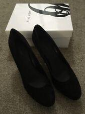 "Womens Nine West Black Suede 3.5"" Heels Size 11M W/ Box 60274380-169"