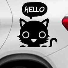 Hello Kitty Autoaufkleber Auto Tattoo ca.14x10 cm in Schwarz - Wandtattoo