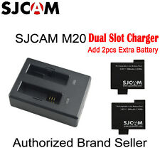 Original SJCAM M20 Dual Battery Charger And 2 Piece 900mAh Li-ion Battery