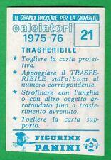 TRASFERIBILE CALCIATORI PANINI 1975/76 - NUOVO/NEW N.21 STEMMA - BOLOGNA