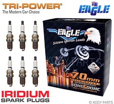 IGNITION LEADS & IRIDIUM PLUGS - for Holden Jackaroo V6 3.2L 6VD1 UBS25