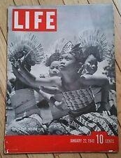 LIFE MAGAZINE JANUARY 22 1940 DUTCH EAST INDIANS