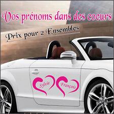 déco voiture  MARIAGE  Coeurs +  Prénoms -  2 ensembles