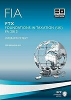 FIA Foundations in Taxation FTX: Study Text by BPP Learning Media (Paperback,...