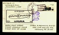 ACE hand crafted/painted cachet/Local Mail Lemuria Cover ACE# 17 - Lot 0221415