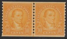 #603 Monroe 10c Horizontal Joint Line Pair Mint Never Hinged.  CV $50.00