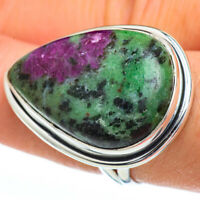 Large Ruby Zoisite 925 Sterling Silver Ring Size 8.5 Ana Co Jewelry R45484F