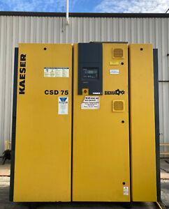 Kaeser CSD 75 Air Compressor 75hp, Rotary Type, 345 CFM, Direct Drive, Efficient