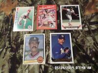 Mixed Lot of 20 Baseball Sports Cards (LOT #9) 1983-1993
