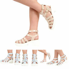 Women's Casual Block Strappy Synthetic Leather Sandals & Beach Shoes