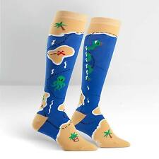 Pirate Treasure Map Knee High Socks NWT Women's Sock Size 9-11 SITM