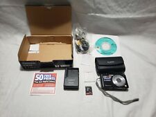 Panasonic LUMIX DMC-FS15 12.1MP Digital Camera - Black W/ Box &Extras