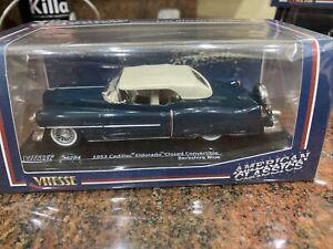 1:43 Vitesse - 1953 Cadillac Closed Convertible - Berkshire Blue NEW IN BOX