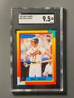 1990 Topps Traded #48T Dave Justice Rookie SGC 9.5 Atlanta Braves Centered/Nice*