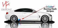 4 Series 3 Color Stripe Decal For Side Skirt Vinyl Decal FITS BMW Nickos Graffix