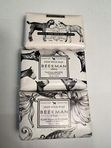 Set of 3 Beekman1802 Goat Milk Soap Bar Ylang,Vanilla,Frag. FreePalm Size 3.5Oz