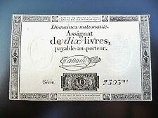 assignat de 10 LIVRES 1792  série 7503  variété ass-36b-v1
