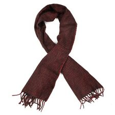 Classic Schal Scarf 100% Wolle Wool Hahnentrittmuster Houndstooth Rot Grün Red