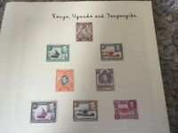 Kenya, Uganda and Tanganyika George VI 1938-54 MH stamps