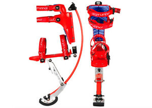 Kids Women Youth Kangaroo Shoes Jumping Stilts Fitness Exercise 66-110lbs RED