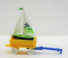 1 Vagoneta + 1 Vela Barco para Playmobil Niños Zu Arena Jardín de Infancia Juego