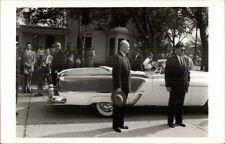 President Eisenhower & Secret Service - Car - Real Photo Postcard