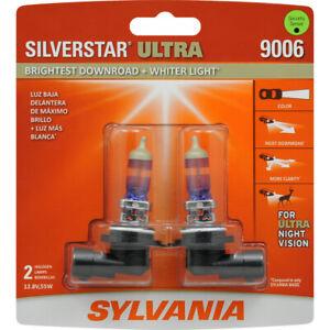 NEW Sylvania Silverstar ULTRA 9006 Pair Set High Performance Headlight 2 Bulbs