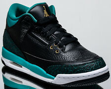 wholesale dealer aa26a e49b7 Air Jordan 3 III Retro GG GS Sz 7y Jaguars BLK Gold Rio Teal 441140 018