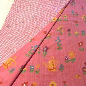 "DESIGNERS GUILD Italy Reversible Coverlet Blanket Bedspread Pink Twin 60"" X 86"""