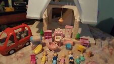 Little Tikes Place blue top , Huge Doll House and Lots of Accessories