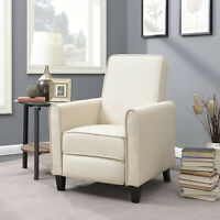 Recliner Chairs Living Room RV Recline Club Chair Home Furniture Theater, Beige