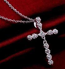 Motivos infinito cruz cristiana de Cristal Collar Regalo Religioso Joyería Caja Libre