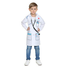 Boys &Girls Scientist Doctor White Lab Coat Costume Super Soft for Kids