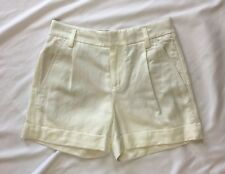 Vince Chino White Linen Blend Shorts Sz 2 NW