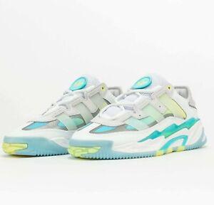 Adidas Originals Niteball White Pulse Aqua S24137 Basketball Shoes Sneakers