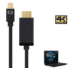 Medion Erazor Laptop Mini DisplayPort to HDMI 4K TV Monitor 3m Gold Lead Cable