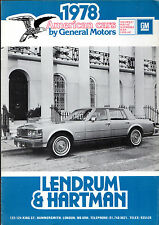 General Motors 1978 UK Market Sales Brochure Cadillac Buick Pontiac Chevrolet