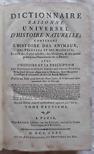 VALMONT de BOMARE - Dictionnaire raisonné universel d'histoire naturelle (1775)