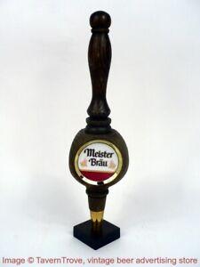 """1980s MEISTER BRAU BEER 11¼"""" tri-corner wood Tap Handle Tavern Trove"""