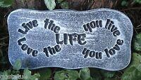 Live the life mold plaster concrete casting plaque mould