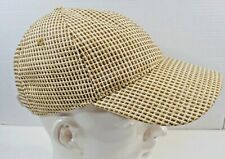 Daniel Cremieux Collection Paper Straw Baseball Cap Hat Headgear Visor Flexback